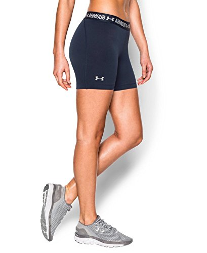 "Under Armour Women's HeatGear Armour 5"" Mid, Midnight Navy (410), X-Small"