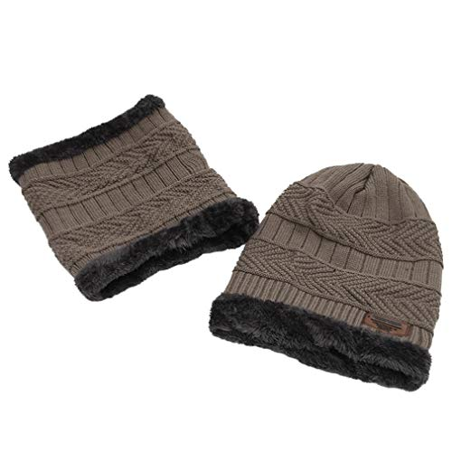 Lefu de Knitted Winter Bufanda Friendly Sombrero Boy and Boy Gorrita Circle Tejida Warm Men Skin Caqui Fashion rpqrRw5