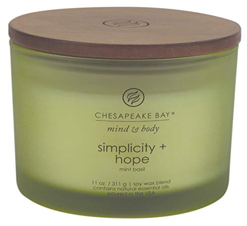 Chesapeake Bay Candle Scented Candle, Simplicity + Hope (Mint Basil) Coffee Table