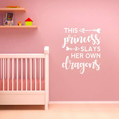 Vinyl Art Wall Decal - This Princess Slays Her Own Dragons - 26.29
