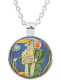 Vintage Robot Necklace Vintage Toys - Science Fiction Necklace - Robot Lover Gift - Robot Pendant - Robot Jewelry