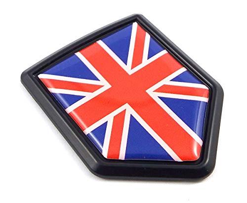 British Shield - Great Britain British Flag Black Shield Car Bike Decal Crest Emblem