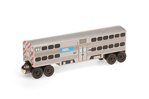 Metra Passenger Cab Wooden Toy Train by Whittle Shortline - Manufacturer - Freight Train Toy