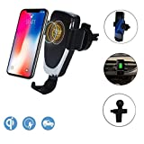 Wireless Car Charger - QI Wireless Car Charger Mount 1.4Times Fast Charging for iPhone 8/8 Plus/iPhone X and Samsung Galaxy S8, S8 Plus, S7 Edge, S7, S6 Edge Plus, Note 5