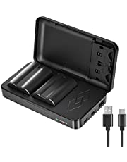 JYJZPB 2 Pack EN-EL15B Batteries and Multi-Function Battery Charger Case for Nikon D7500, D750, Z6, Z7, D500, D600, D610, D810, D800, D800E, D710E, D850, D7000, D7100, D7200 Digital Cameras