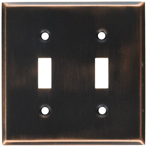 - MINTCRAFT 883-35-07-SOU Switch Plate Double, Venetian Bronze