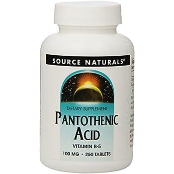 Source Naturals Pantothenic Acid, 100mg, 250 Tablets