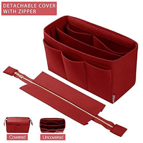 Purse Organizer Insert, Bag Organizer with For Tote and Handbag, LV, Goyard (Medium, Red)