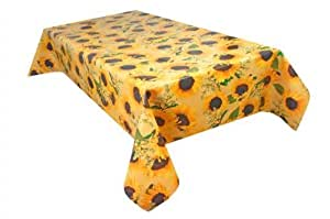 MG Oilcloth-Tablecloth Washable Sunflower Yellow ( 120-01 ) - 100 X 140 Cm
