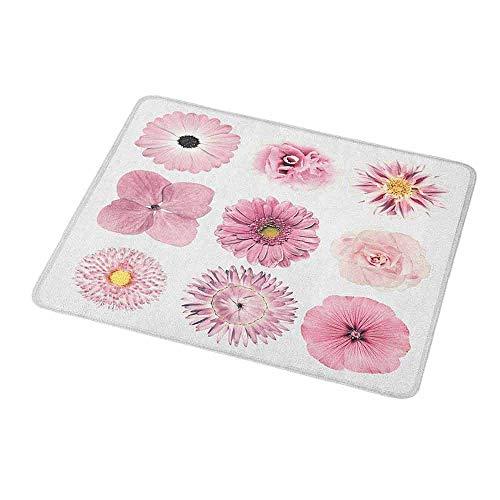 - Gaming Mouse Pink and White,Botanical Daisy Chrystanthemum Cornflower Dahlia Iberis Primrose Gerbera Set,Dried Rose,Customized Rectangle Non-Slip Rubber Mousepad Gaming Mouse Pad 9.8