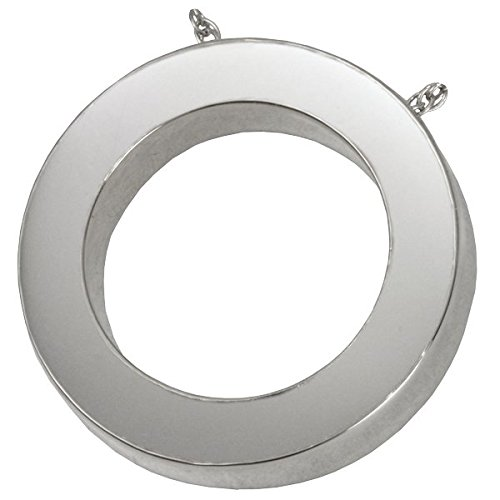 Memorial Gallery 3044S no Stones Slide Circle Sterling Silver Cremation Pet Jewelry