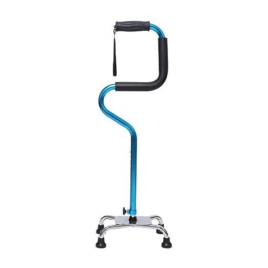 Zfggd Viejo Andador de Cuatro pies Antideslizante Azul ...