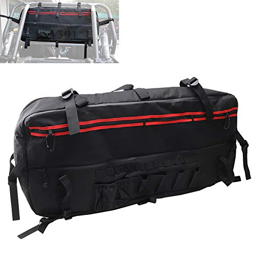 Polaris Shelf - Cargo Bag For Jeep Wrangler JK UTV Rear Roll Bar Multi-Pockets Storage Bag Saddlebag Organizer Tool Kits Holder For Polaris RZR Ranger