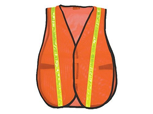 Lightweight Economy Safety Vest - Safety Depot Economy Safety Vest Light Weight Mesh Durable Hi Vest Low Cost Value One Size Fits Most (Pack of 3) (8018C, Orange)