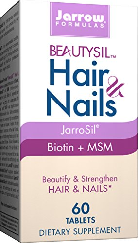 Formulas Jarrow Biotin - Jarrow Formulas BeautySil Hair & Nails, Beautify & Strengthen Hair & Nails, 60 Tablets