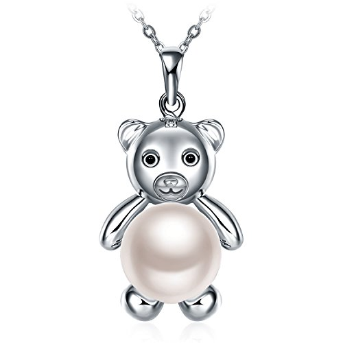 GUNDULA Christmas Jewelry Gifts Packing 925 Sterling Silver Animal Charms Jewelry Bear Pendant Necklace