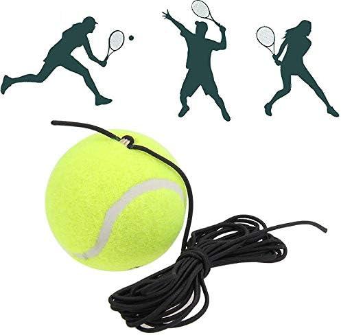 CUHAWUDBA Attrezzo da Tennis per Allenatore da Tennis nel Confezione Singola con Accessori per Tennis nel Feltro di Gomma di Ricambio nel Corda