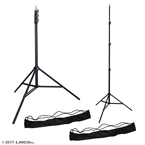 LINCO Lincostore ZENITH 9 feet/288 cm Photo Studio Light Stands Set of Two for HTC Vive VR, Video, Portrait, and Product Photography