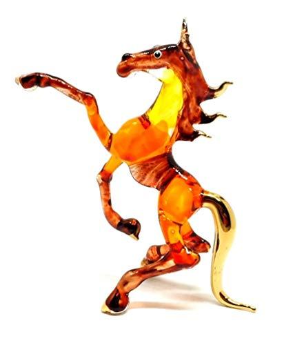 Handmade Horse Art Glass Blown Wild Animal Figurine - No.1 -