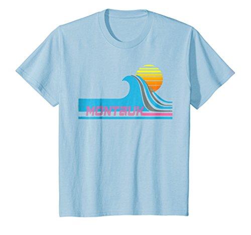 Kids Montauk T-Shirt - Long Island Surfing Tee-Shirt 12 Baby Blue