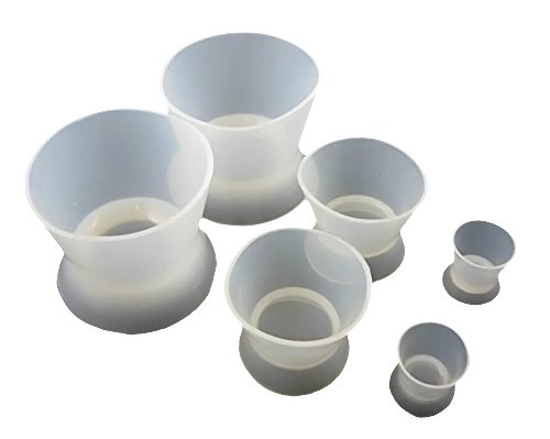 Zgood 6PCS Lab Silicone Mixing Bowl Cup (2L 2M 2S )