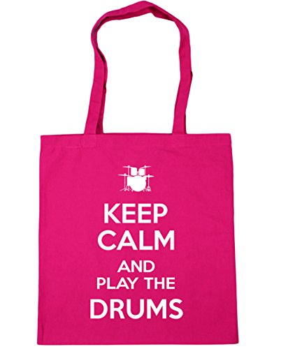 and Calm HippoWarehouse Drums Shopping litres 42cm Fuchsia Play the Tote Beach Keep Gym 10 Bag x38cm gEEq5