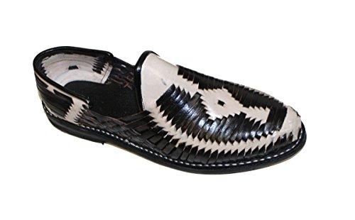 Dona Michi Män Genuint Äkta Läder Sluten Tå Mexikanska Huarches Sandal Svart Beige