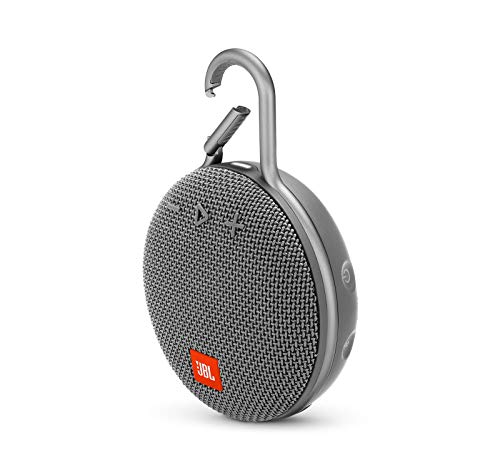 JBL Clip 3 Waterproof Portable Bluetooth Speaker – Gray