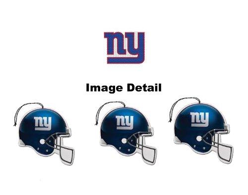 New York Giants NFL Team Logo Car Truck SUV Home Office Paper Air Freshener - 3 PACK SET