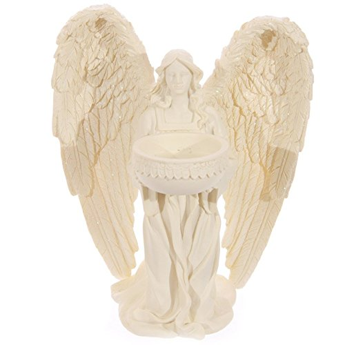 Kneeling Angel Figurine Tealight Holder 18cm