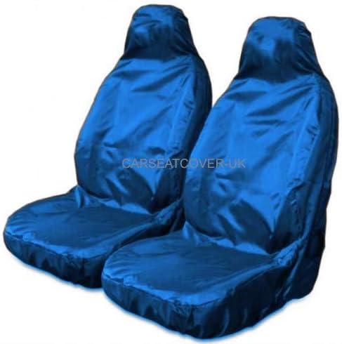 Front Pair Airbag Friendly Heavy Duty Black Waterproof Car Covers