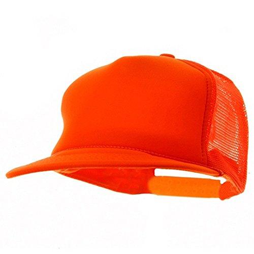 - 5 Panel Neon Color Poly Mesh Cap - Neon Orange W39S51F