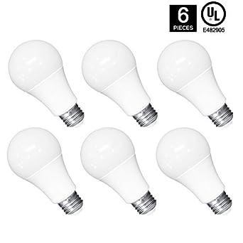 6 LED bombillas En Bulk, ytaik A19 bombillas LED 10 W Ahorro de energía UL Listed: Amazon.es: Amazon.es