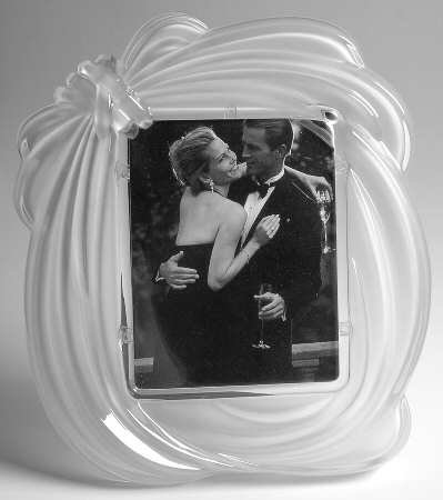 mikasa love knot crystal picture frame 8 - Mikasa Picture Frames