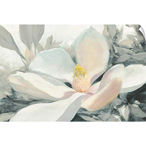 CANVAS ON DEMAND Majestic Magnolia Green Gray Crop Wall Peel Art Print, 18