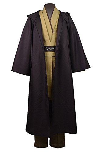 [Classic Halloween Costume Unisex Cosplay Outfit Robe + Tunic + Pants Set (US Men-XL, Brown)] (Cosplay Comic Con Costumes)
