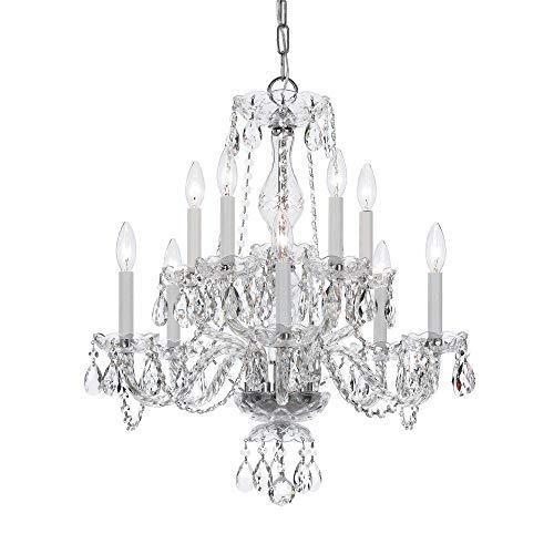 - Bohemian 10 Light Crystal Candle Chandelier Crystal Type/Finish: Swarovski Spectra/Chrome