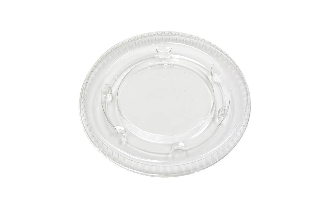 Pactiv Portion Cup Lids, Non Vented Portion Cup Lid, 2oz, 2400 Pack, YLS-2