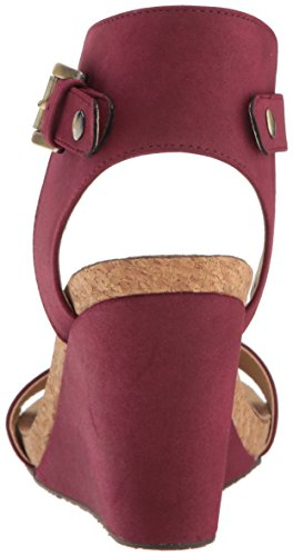 Footwearadrienne Wedge Vittadini Para Sueded Ted Gamuza red Footbed Mujer Adrienne Rojo qT5In