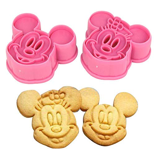 Kitchen Bakeware Baking Tools 3D Biscuit Minnie Mickey Mouse hello kitty Cookie Cutter and Cookie Stamps]()