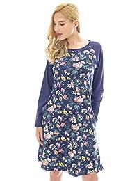 Bearsland Women's Maternity Pajamas Nursing Nightgown Breastfeeding Sleepwear