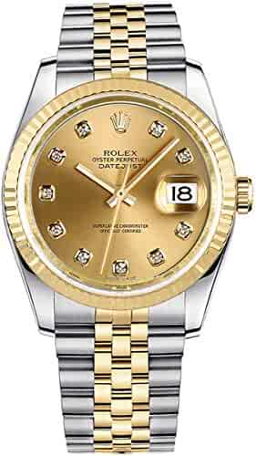 Rolex Datejust Champagne Dial with Diamond Hour Markers 36mm Watch (Ref. 116233)