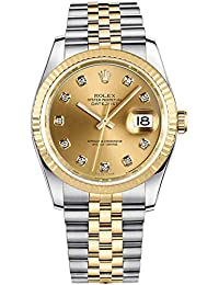 Datejust Champagne Dial with Diamond Hour Markers 36mm Watch (Ref. 116233)