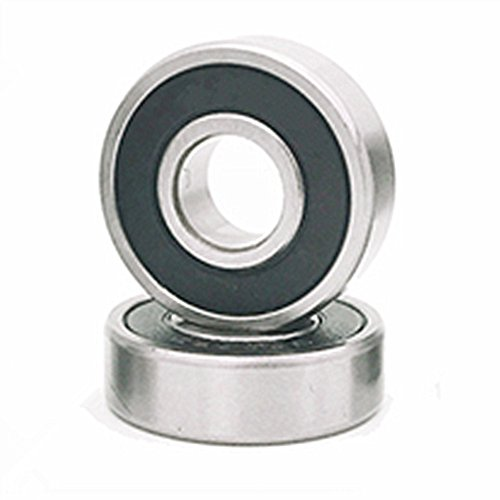 (2 PACK) 6001 Ceramic Bearing 12x28x8mm 6001-2RS Si3N4 Ceramic Ball Bearing