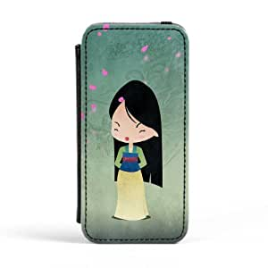 Princess Mulan Premium Faux PU Leather Case, Protective Hard Cover Flip Case for Apple? iPhone 5 / 5s by DevilleArt + FREE Crystal Clear Screen Protector
