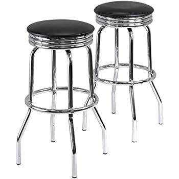 Amazon.com: Winsome Wood Summit Swivel Bar Stools with