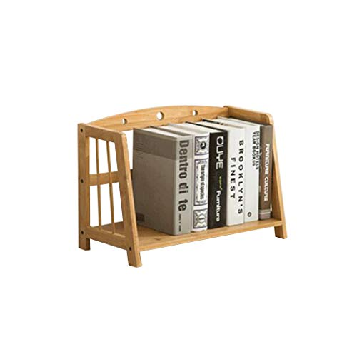 MOOLO Storage Racks Desktop Storage Shelf, Bookshelf Shelving Countertop Bookcase Supplies Bamboo Desk Organizer Display Rack (Size : One Layer A)