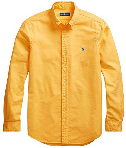 Ralph Lauren Men Solid Sport Oxford Shirt (XL, - Oxford Shirt Placket