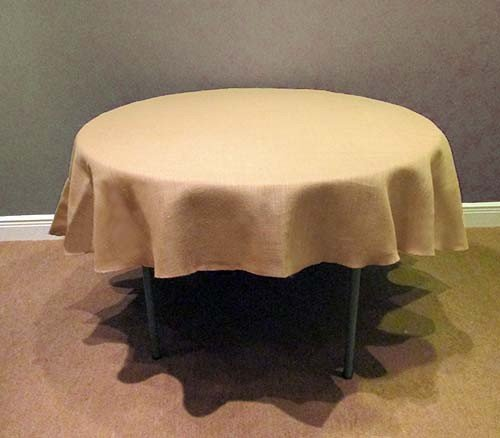 Amazon.com: Tablecloth Burlap Natural Round 64 Inch By Broward Linens: Home  U0026 Kitchen
