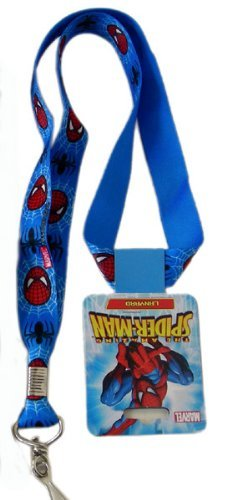 Marvel Spiderman 2pc Lanyards - Spiderman Lanyards - Blue